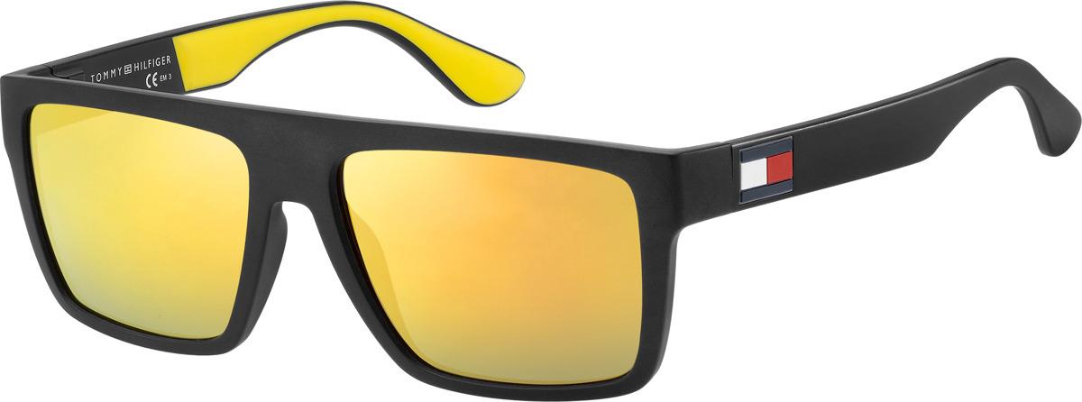 Очки солнцезащитные мужские Tommy Hilfiger, THF-20130871C56SQ, золотой, черныйTHF-20130871C56SQЗащита от УФ лучей.