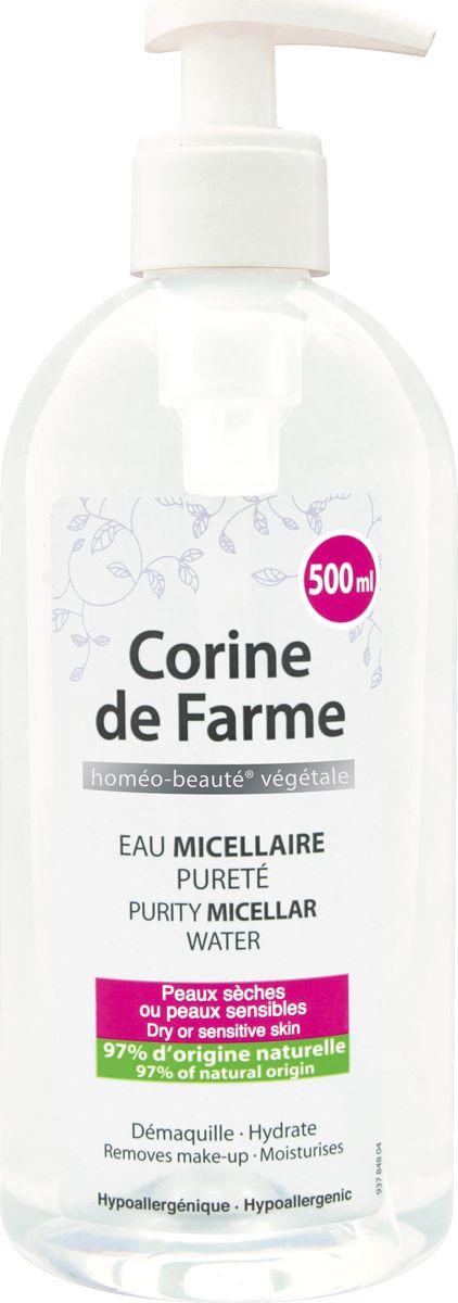 Вода мицеллярная Corine de Farme, очищающая, 500 мл corine de farme мой интимный уход крем гель для душа защищающий 250 мл