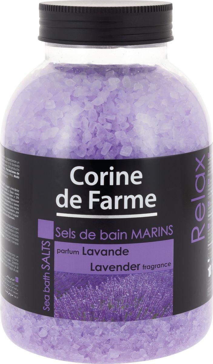 Соль для ванны Corine de Farme Лаванда, 1,3 л corine de farme мой интимный уход крем гель для душа защищающий 250 мл