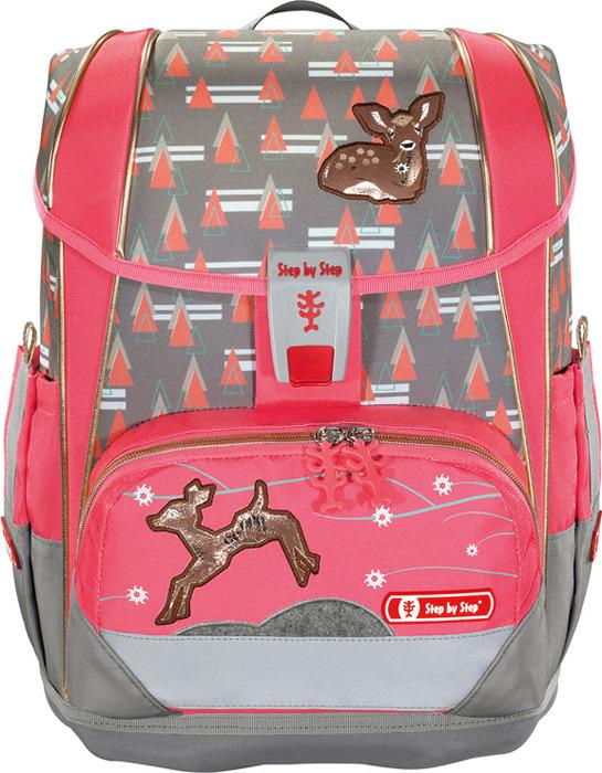 Ранец школьный Step by Light 2 Modern Deer, 1135800, розовый, 4 предмета