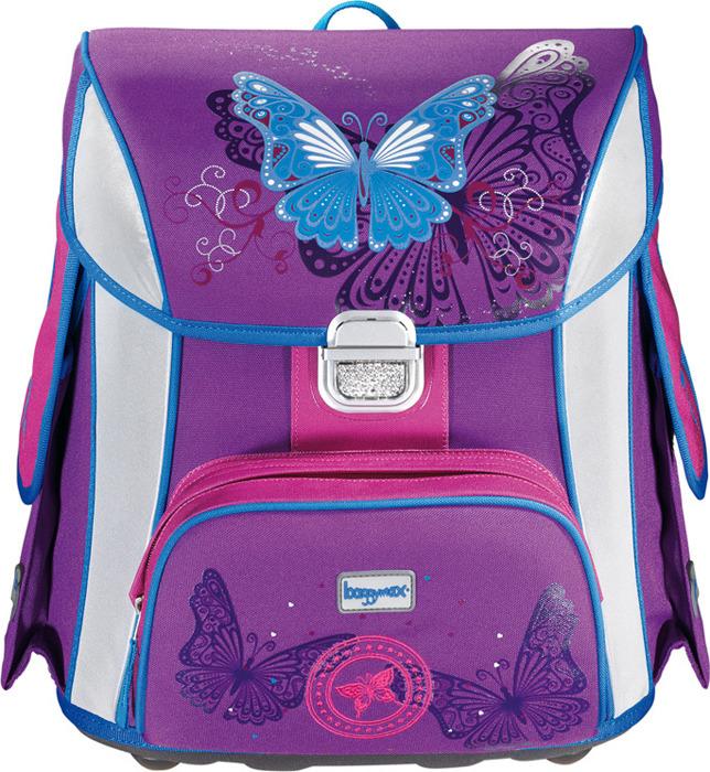Ранец школьный Step by Baggy Max Simy Butterfly, 919932, фиолетовый