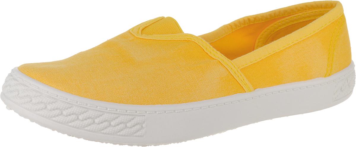 Кеды женские Lucky Land, цвет: желтый. 2434W-yellow. Размер 382434W-yellowКеды повседневные женские.