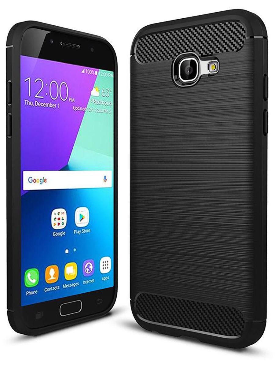 """Чехол для сотового телефона UVOO Силиконовый чехол """"Carbon Design"""" для Samsung Galaxy A5 (2017) A520"""