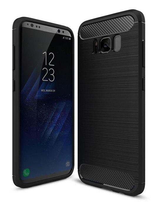 """Чехол для сотового телефона UVOO """"Carbon Design"""" для Samsung Galaxy S8 Plus, черный"""