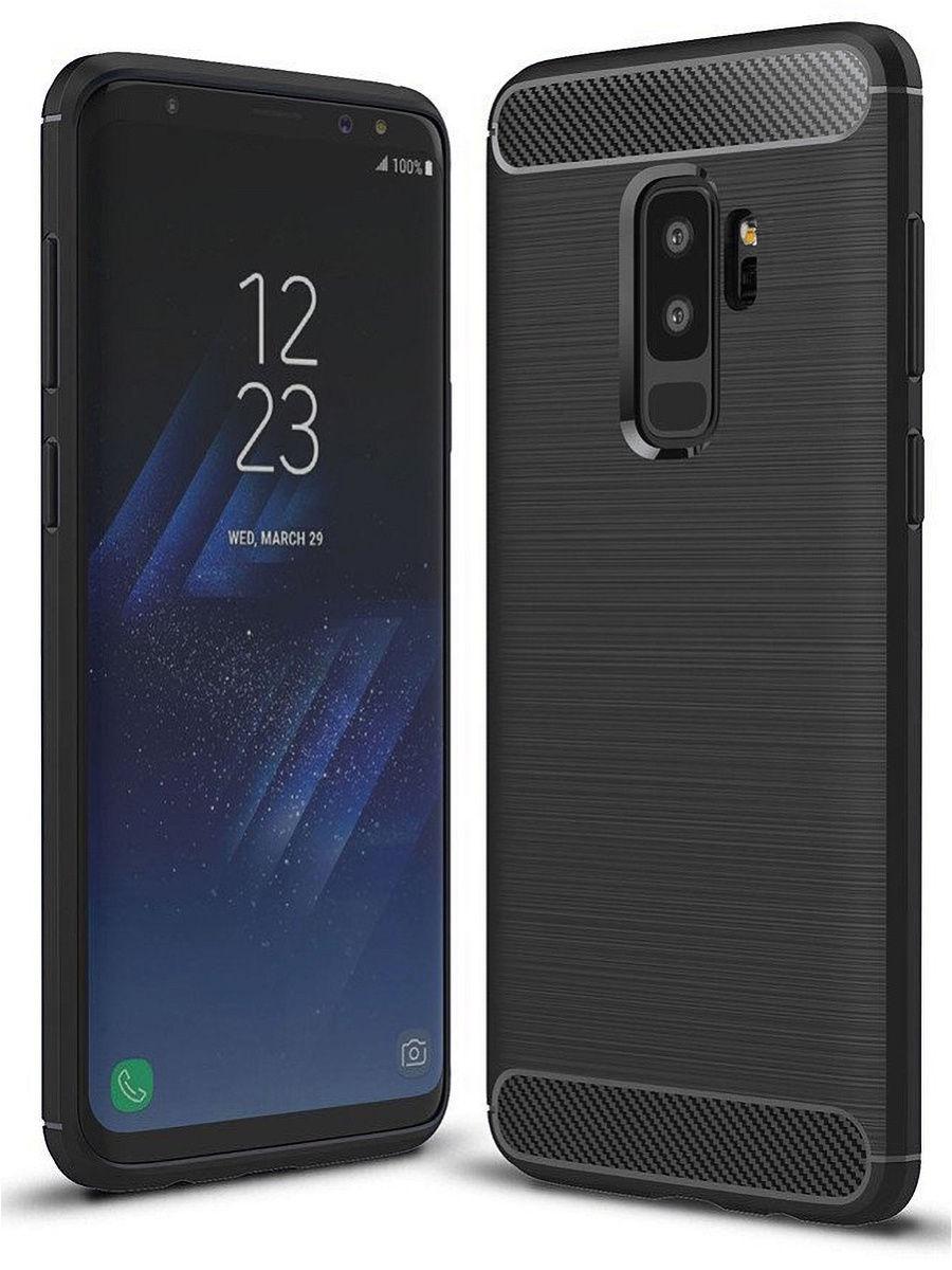 """Чехол для сотового телефона UVOO Силиконовый чехол """"Carbon Design"""" для Samsung Galaxy S9 Plus"""