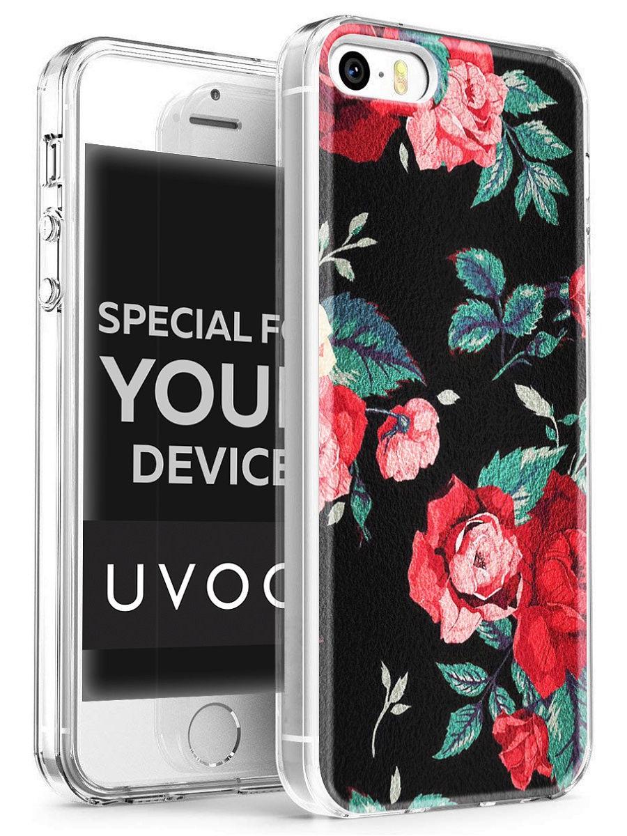 """Чехол для сотового телефона UVOO """"Art kit"""" для Apple iPhone 5/5S/SE, разноцветный"""