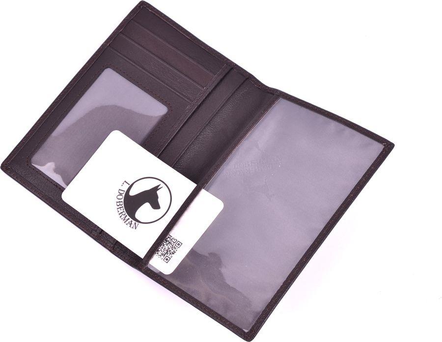 Обложка на паспорт мужская L.Doberman, LD 0025-093, коричневый цена