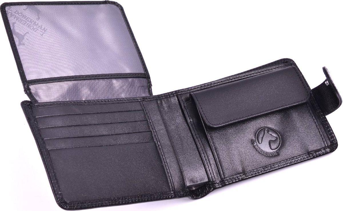 Портмоне мужское L.Doberman, LD 7750-001, черный портмоне мужское cangurione цвет черный 1214 001 v black