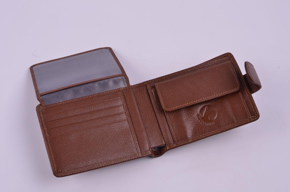 Портмоне мужское L.Doberman, LD 7760-001, коричневый портмоне мужское cangurione цвет черный 1214 001 v black