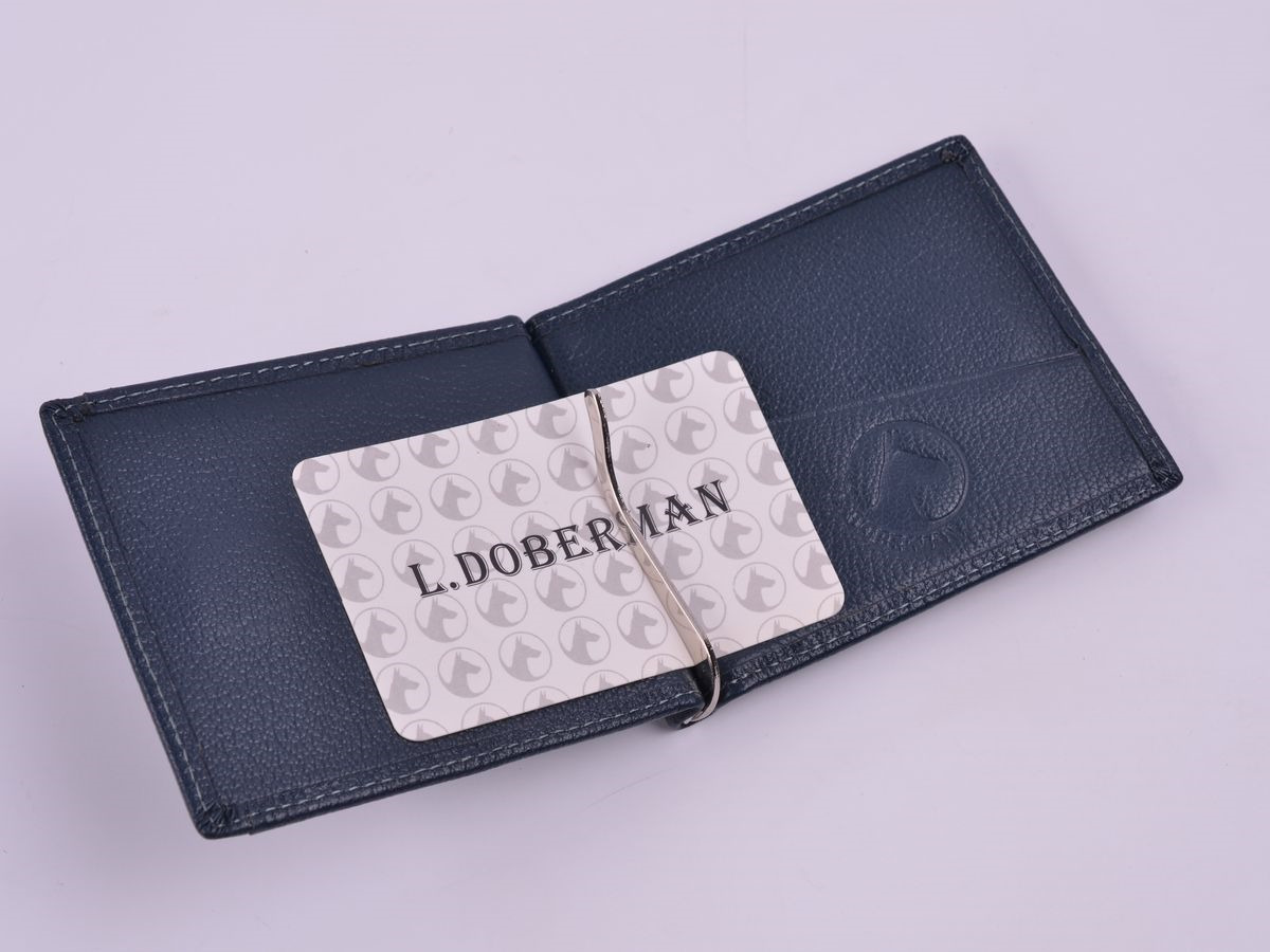 купить Зажим для денег мужской L.Doberman, LD 7770-013, черный недорого