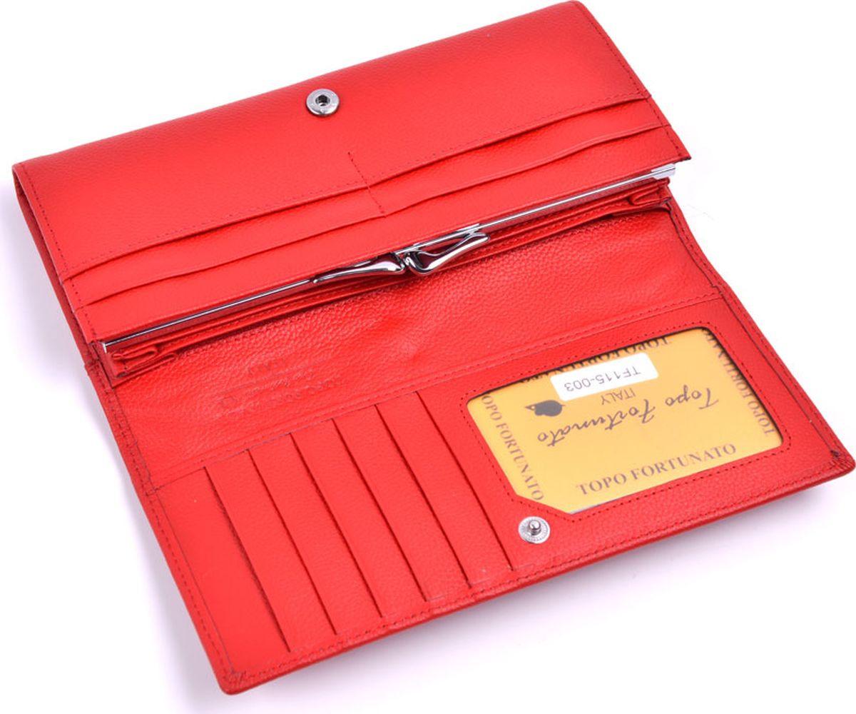 Кошелек Topo Fortunato купить красный кожаный кошелек женский