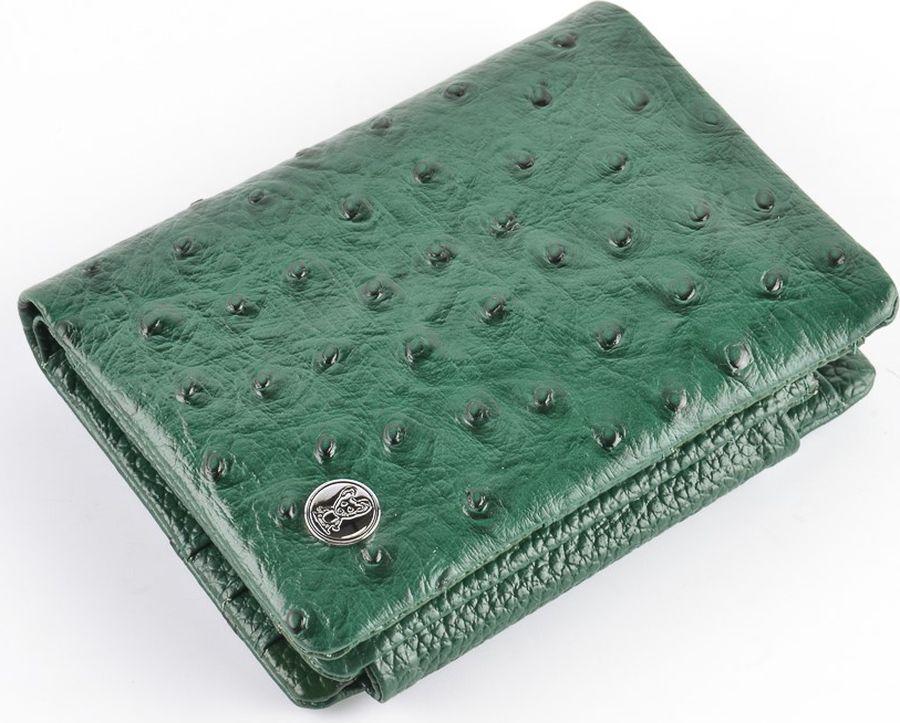Кошелек женский Topo Fortunato Страус, TF 1274-013, зеленый