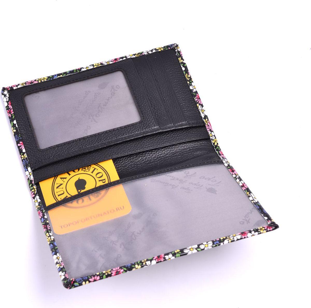 купить Обложка на паспорт Topo Fortunato Цветы, TF 1323-093, разноцветный по цене 1165 рублей