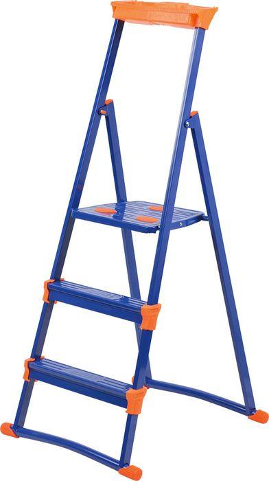 Стремянка Ника СМ, НИКА-СМ3+, синий, 3 ступени стремянка стальная rigger 100101 3 ступени