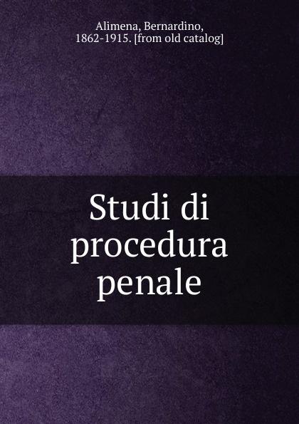 Studi di procedura penale