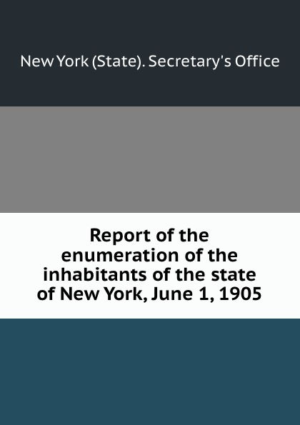 Report of the enumeration of the inhabitants of the state of New York, June 1, 1905 printer not printing text