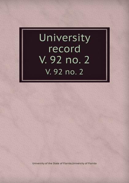 University record. V. 92 no. 2