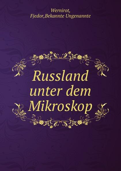 Fjedor Wernirot Russland unter dem Mikroskop