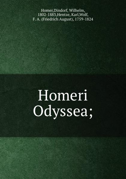 Dindorf Homer Homeri Odyssea;