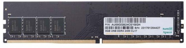 Модуль оперативной памяти Apacer DDR4 DIMM 2400MHz-17 1024x8 8GB G, EL.08G2T.GFH