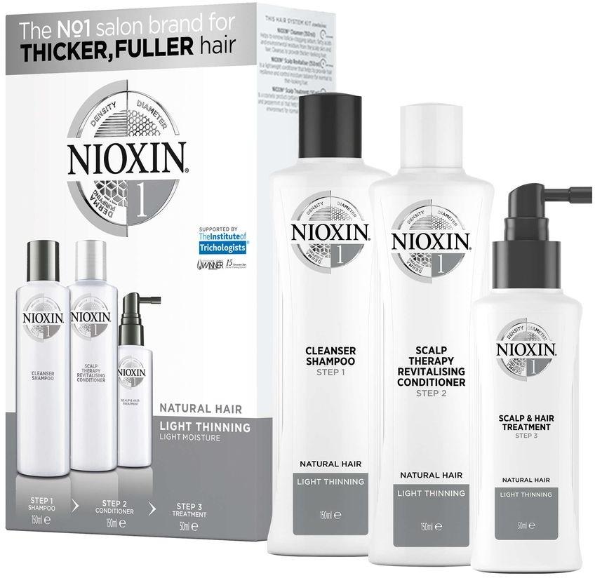 Nioxin System Набор (Система 1) 1 Kit 150 мл+150 мл+50 мл nioxin 3d styling therm activ protector термозащитный спрей 150 мл