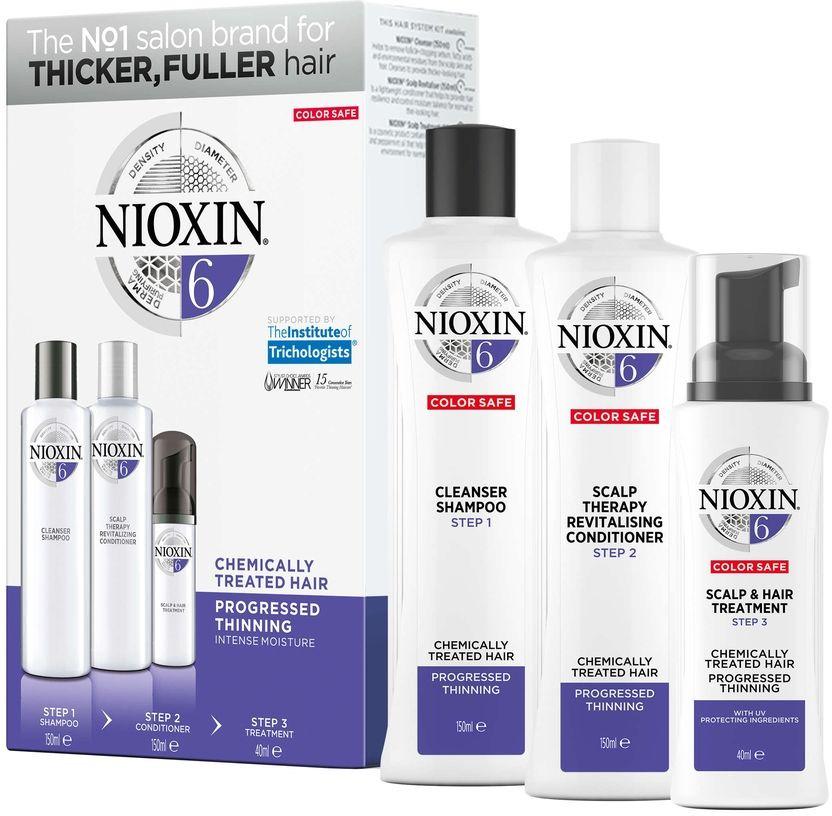 Nioxin System Набор (Система 6) 6 Kit 150 мл+150 мл+40 мл nioxin 3d styling therm activ protector термозащитный спрей 150 мл