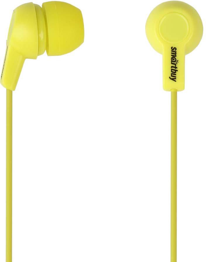 Наушники внутриканальные SmartBuy Jazz, SBE-760, желтый цена