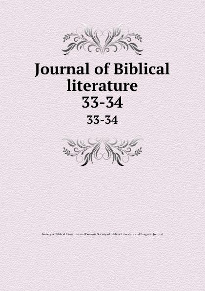 Journal of Biblical literature. 33-34 review of biblical literature 2016