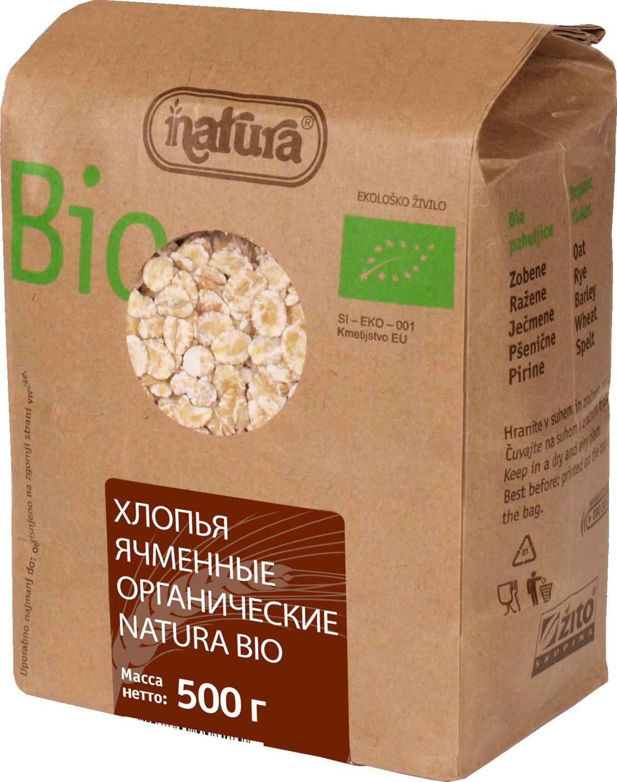 Zito Natura Bio Хлопья ячменные, 500 г