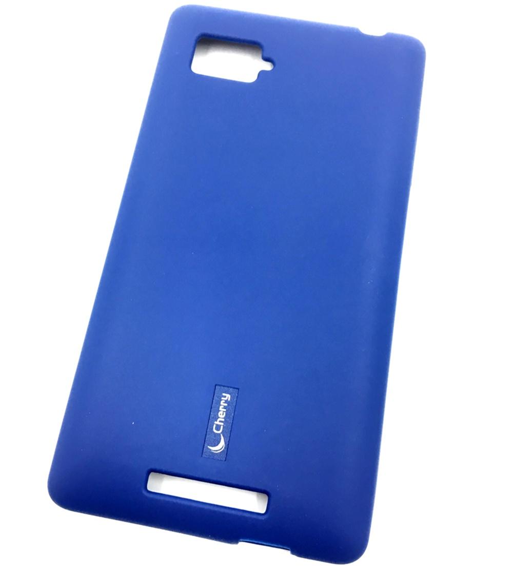 Чехол для сотового телефона Cherry Lenovo K910 Накладка резиновая с пленкой на экран, синий цена