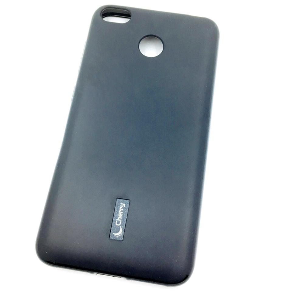 Чехол для сотового телефона Cherry Xiaomi Redmi 4X Накладка резиновая с пленкой на экран, черный