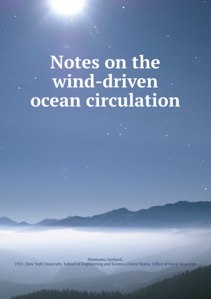 Notes on the wind-driven ocean circulation