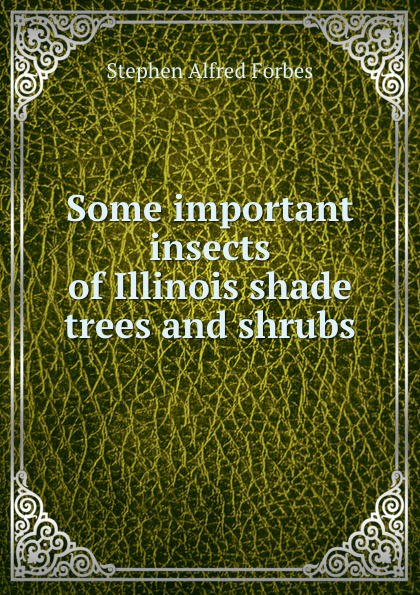 Forbes Stephen Alfred Some important insects of Illinois shade trees and shrubs