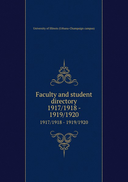 Faculty and student directory. 1917/1918 - 1919/1920