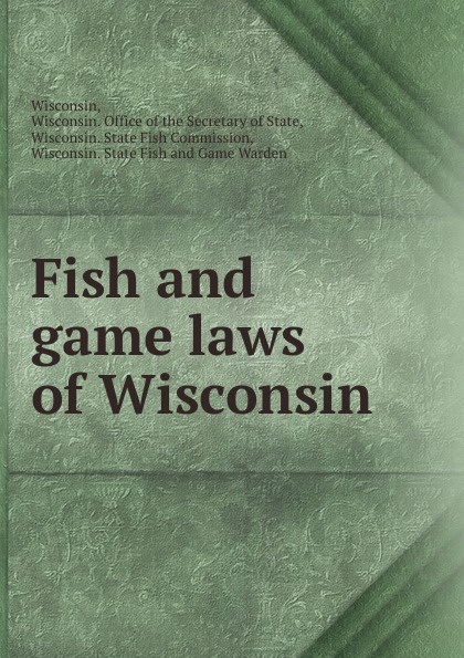Fish and game laws of Wisconsin printer not printing text