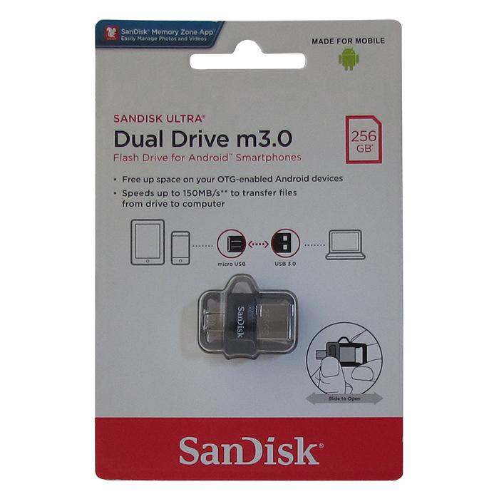 USB Флеш-накопитель SanDisk Ultra DDD3 USB + micro USB 3.0 256GB