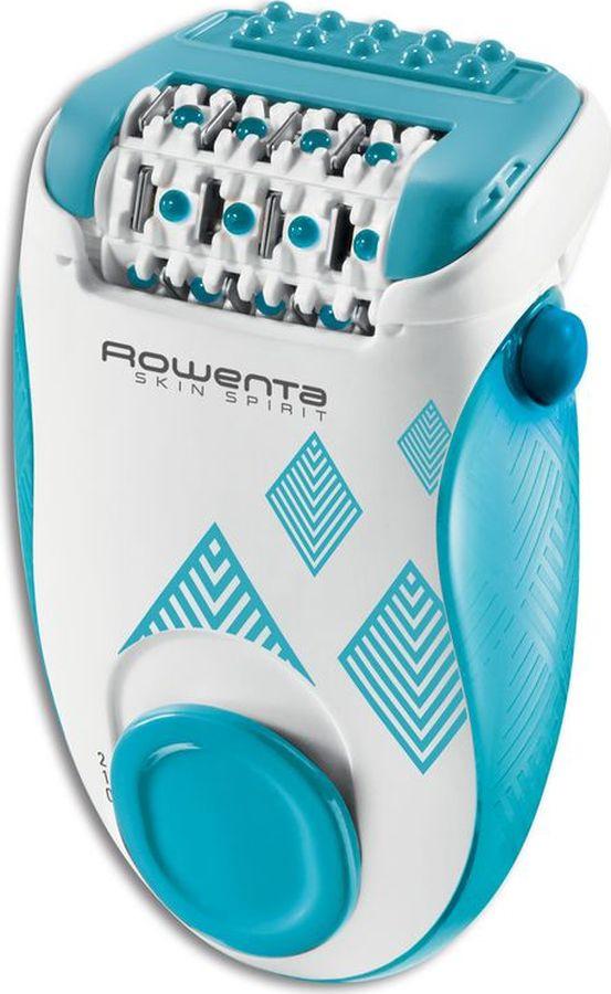 Эпилятор Rowenta Skin Spirit, EP2910F0, голубой, белый