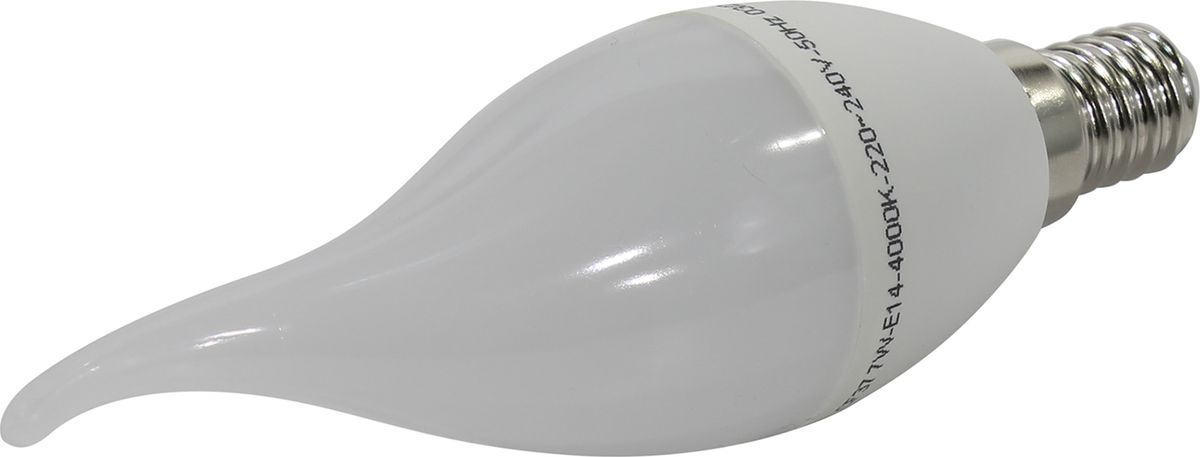 Лампа светодиодная SmartBuy C37, холодный свет, цоколь E14, 4000 К, 7 Вт лампа светодиодная smartbuy g45 теплый свет цоколь е27 7 вт