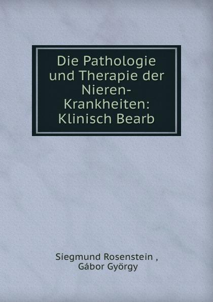 Siegmund Rosenstein Die Pathologie und Therapie der Nieren-Krankheiten: Klinisch Bearb