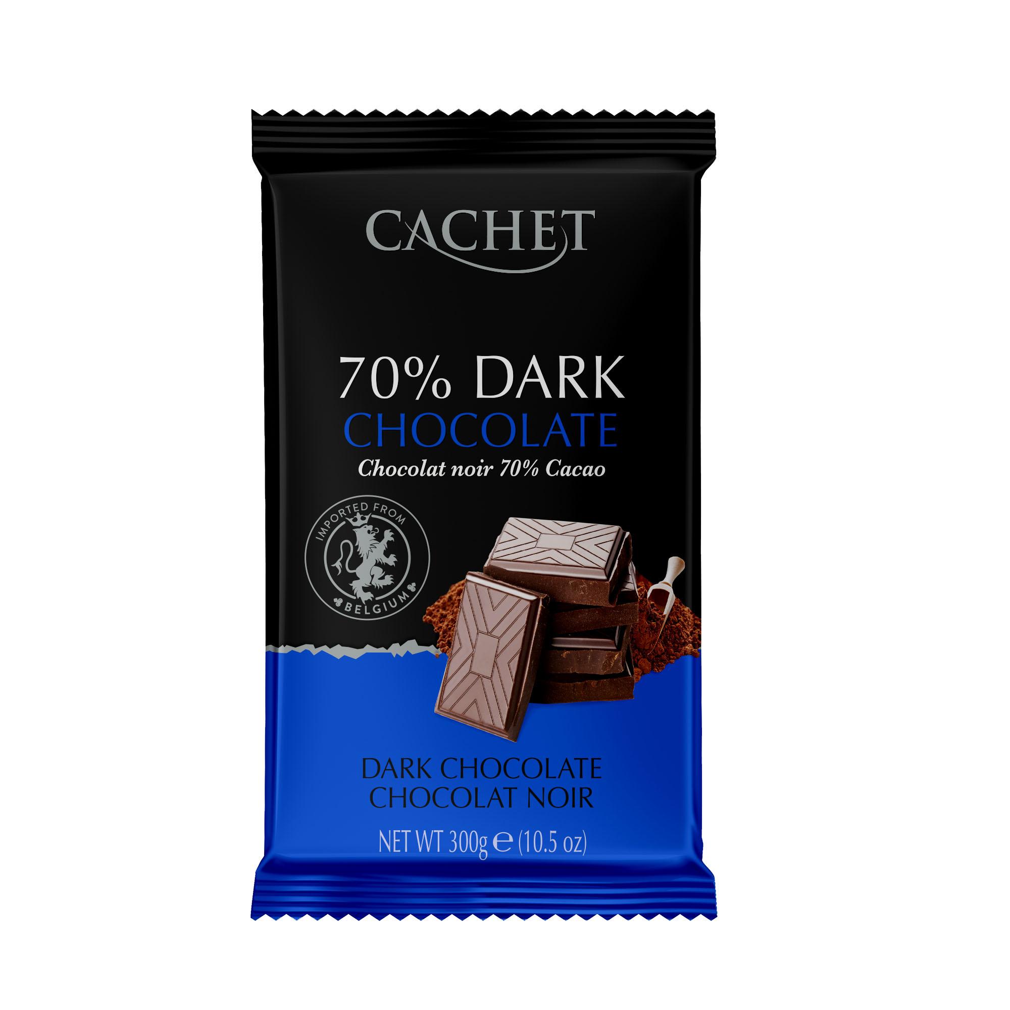 Шоколад Cachet уникальный бельгийский горький 70% какао нетто 300г, 300