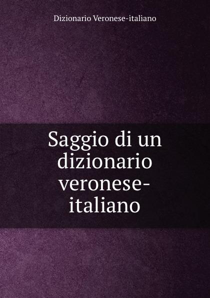 Dizionario Veronese-italiano Saggio di un dizionario veronese-italiano
