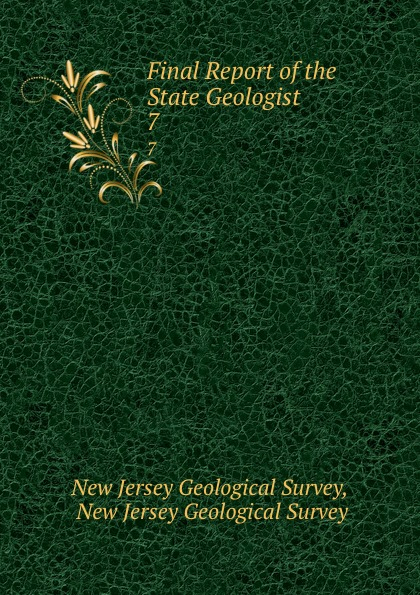 New Jersey Geological Survey Final Report of the State Geologist. 7