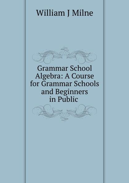 William J. Milne Grammar School Algebra: A Course for Grammar Schools and Beginners in Public . lange franz j a german grammar for beginners