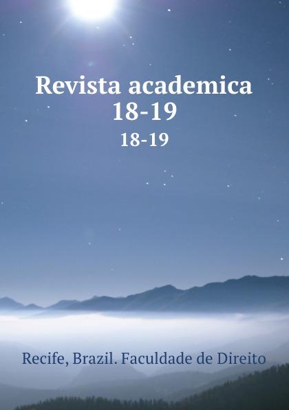 Brazil. Faculdade de Direito Recife Revista academica. 18-19 пуф recife
