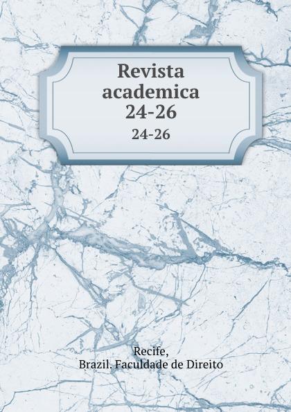 Brazil. Faculdade de Direito Recife Revista academica. 24-26 пуф recife