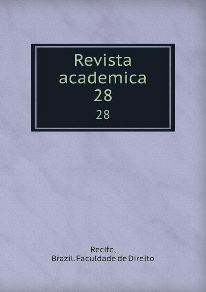 Brazil. Faculdade de Direito Recife Revista academica. 28 пуф recife
