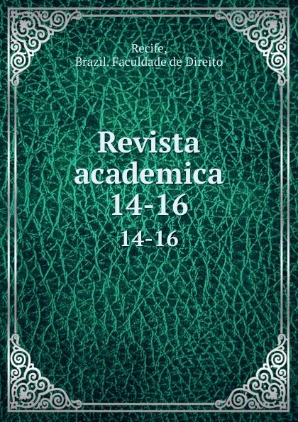 Brazil. Faculdade de Direito Recife Revista academica. 14-16 пуф recife