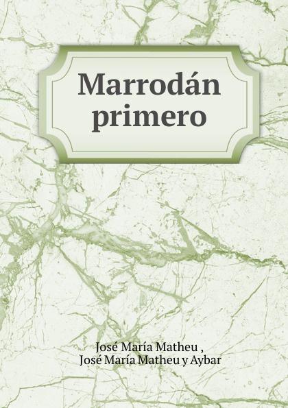 José María Matheu Marrodan primero josé maría matheu y aybar marrodan primero spanish edition