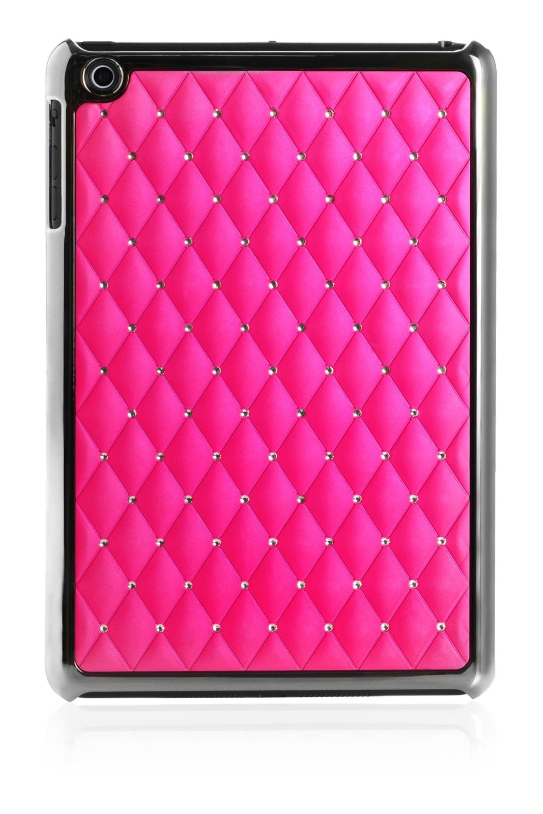 Чехол для планшета iNeez накладка стежка с кристаллами 410153 Apple iPad mini 7.9, темно-розовый