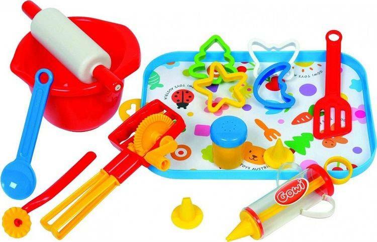 Фото - Игрушка для песочницы Gowi Набор посуды Кулинар, 454-63, 17 предметов gowi набор игрушек для песочницы ручки и ножки 5 предметов